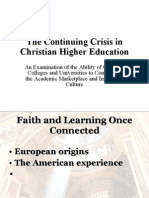 Christian Higher Education Analysis