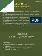 10 4 equations in quadratic form