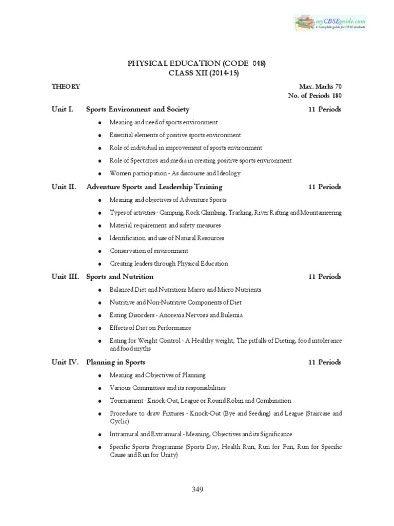 Cbse class 12 syllabus for physical education 2014 2015 physical cbse class 12 syllabus for physical education 2014 2015 physical fitness aerobic exercise malvernweather Image collections