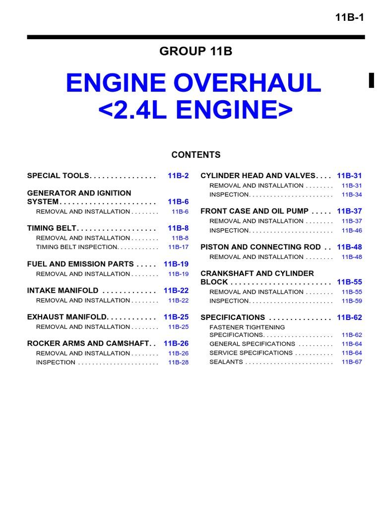 2002 Eclipse Spyder 2002 Engine Diagram Cylinder Engine Screw