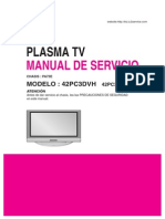Manual Servico Tv Plasma Lg 42pc3dvh Ue