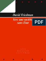 Vers Une Societe Sans Etat - David Friedman, 1973