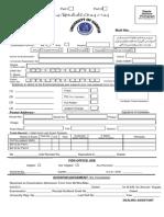 BAB.sc Part I & II Admission Form