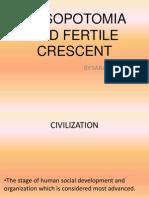 mesopotomia and fertile crescent