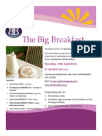 #BforB Solent Big Breakfast Flyer 10 April 2014