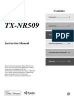 Instruction Leaflet ONKYO TX-NR509