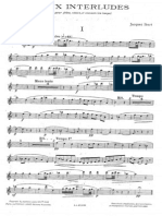 Deux Interludes for Piano Flute Oboe