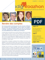 Bilan des élus UDB du pays de Rennes