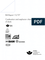 Combustion and Explosion Characteristics of Dusts (BIA-Report 13/97)