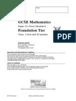 MrJacksonMaths Foundation Non Calculator Paper G