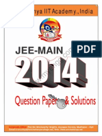 Jee Main 2014 Question Paper Key Solutions