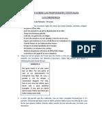 actividad sobre las propiedades textuales