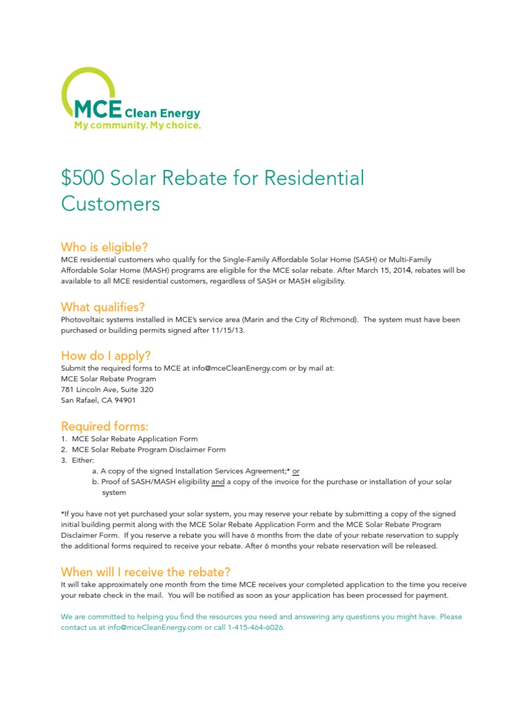 state of california incentive area marin county solar rebate program