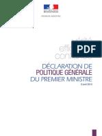 Discours de Politique Generale Du Premier Ministre Manuel Valls