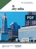 Informator 2014 - Franklin University MBA - Wyższa Szkoła Bankowa we Wrocławiu