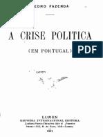 A crise politica em Portugal após a implantação da República