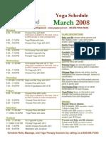 march 2008 schedule