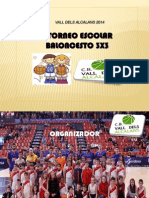 Proyecto i Liga Escolar 3x3 Baloncesto Cbvda