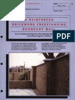 A Reinforced Brickwork Freestanding Boundary Wall 0188