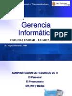 GERENCIA INFORMATICA - tercera unidad - Semana 4 - El presupuesto.ppt