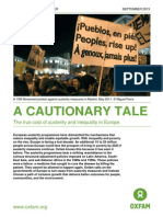 Oxfam Austerity & Inequality in Europe