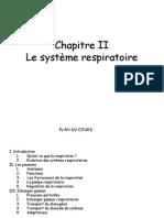Chap II La Respiration
