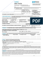 International Claim Form Fillable