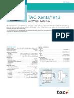 TAC Xenta 913 Data Sheet TAC Xenta 913 2.0.0