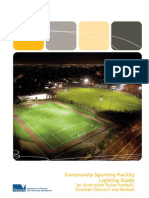 Football Netball Soccer Lighting Guide 2012