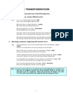 1. Sentence Transformation (1)