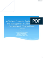 "A Study of Computer Applications in the Management of ""Aavin"" Dairy Cooperatives"
