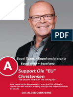 "Ole ""EU"" Christensen International Campaign Brochure"