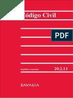Codigo Civil Argentino 2012 - Zavalia