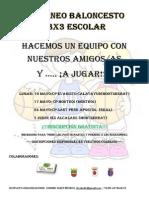 Cartel 3x3 Escolar Promocion