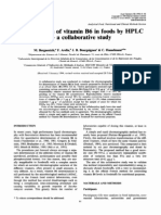Determination of Vitamin B6 in Foods by HPLC