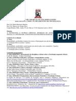Programa - Disciplina Fundamentos de Sociologia