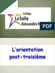 l'orientation post-troisième 2014