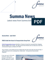 Summa Group April 2014 News