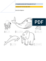 S5 Actividades Complementaria de Preescolar D, E y F