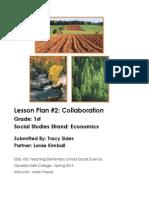 Edel453 Economics Lesson Plan Tracy Sides