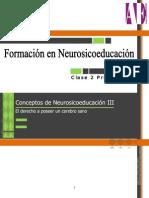 Conceptos de Neurosicoeducacion III - El Derecho a Poseer Un Cerebro Sano