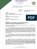 Surat Kemaskini Data Emis 13012014