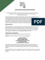 Job Posting - Advancement Intern 2014