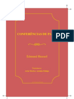 Husserl Conferencias de Paris