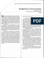 221718 3 BudgetingReading-Gamesmanship