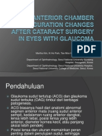 Anterior Chamber Configuration Changes After Cataract Surgery