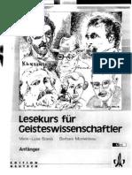 Lesekurs Fur Geistwissenschaftler - Anfanger - Marie-Luise Brandi, Barbara Momenteau