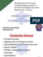 Diapositivas de Primeros Auxilios