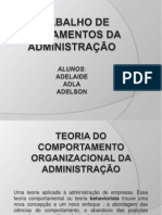 TRABALHO DE FUNDAMENTOS DA ADMINISTRAÇÃO