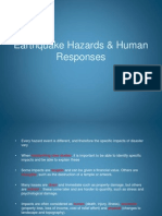 Earthquake Hazards & Human Responses